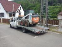 autómentő - gépszállítás munkagép